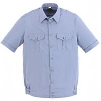 Рубашка кадетская форменная серо-голубая короткий рукав
