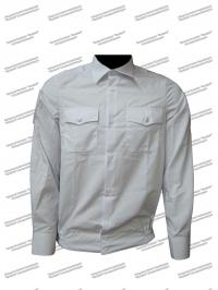 """Рубашка """"Полиция"""", белая, с липучками, длинный рукав"""