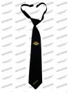 Галстук черный, с вышивокй, Минобороны