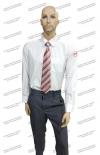 Рубашка  РЖД белая длинный рукав (с шевронами)