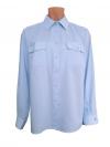 """Рубашка женская """"Полиция"""" голубая, длинный рукав"""