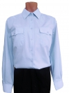 """Рубашка женская форменная """"Полиция"""" голубая, длинный рукав"""