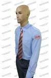 Рубашка  РЖД голубая длинный рукав (с шевронами)