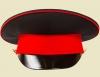 Фуражка кадетская чёрная, красный кант