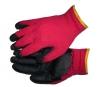 Перчатки рабочие красные с чёрным