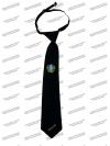 Галстук черный, с вышивкой, Судебный пристав