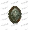 Кокарда металлическая МЧС, малая полевая для офицерского состава