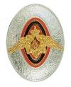 Кокарда металлическая ПВ, рядовой, серебряная