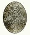 Кокарда металлическая ПВ, рядовой, защитная
