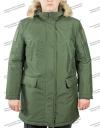 """Куртка зимняя МПА-40-02 """"Аляска"""" зелёная, ткань рипстоп мембрана"""