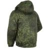 "Куртка зимняя ""Снег"" зелёная цифра с подстёжкой"