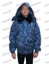 Куртка зимняя «Омега» синяя цифра 2 слоя синтепона