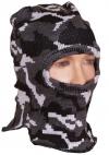Шлем-маска серый камуфляж с 1 отверстием