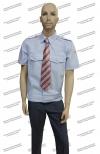 Рубашка РЖД форменная голубая короткий рукав (с шевронами)