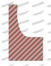 Шарф (Платок) РЖД женский с красными и темно-серыми полосками, нового образца