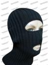 Шлем-маска черная с двумя отверстиями