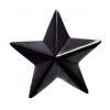 Звезда 20 мм. пластиковая черная
